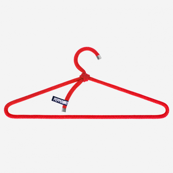 Peppermint Products Kleiderbügel Loop Hanger 3er-Set Rot