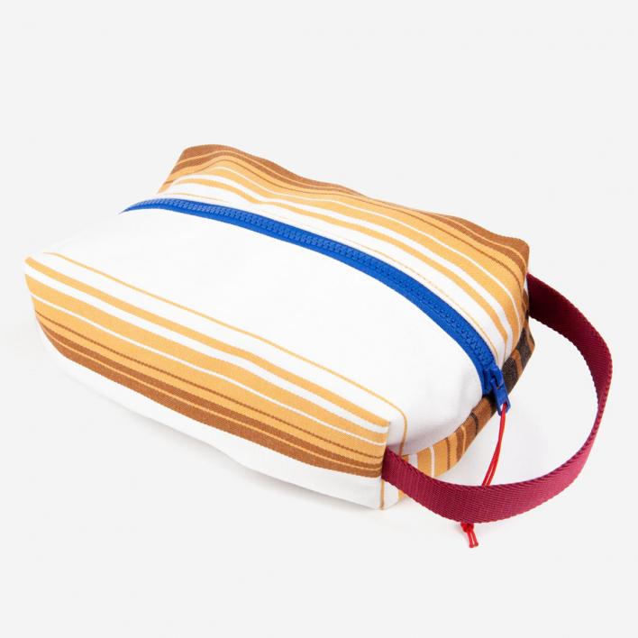 Rimini Rimini Bags Wash Bag / Toiletry Bag Chioggia Brown Ochre White