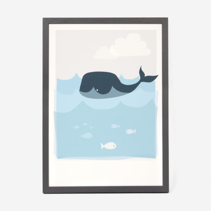 Kikisoso Art Print Whale Frame Dark Ash Tree Frame Dark Ash Tree