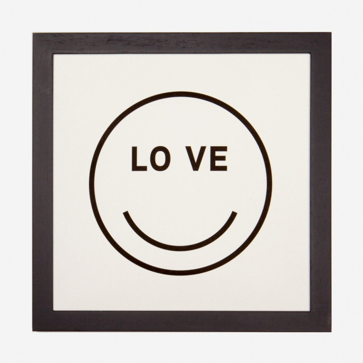 rikiki LOVE Smiley Letterpress Print