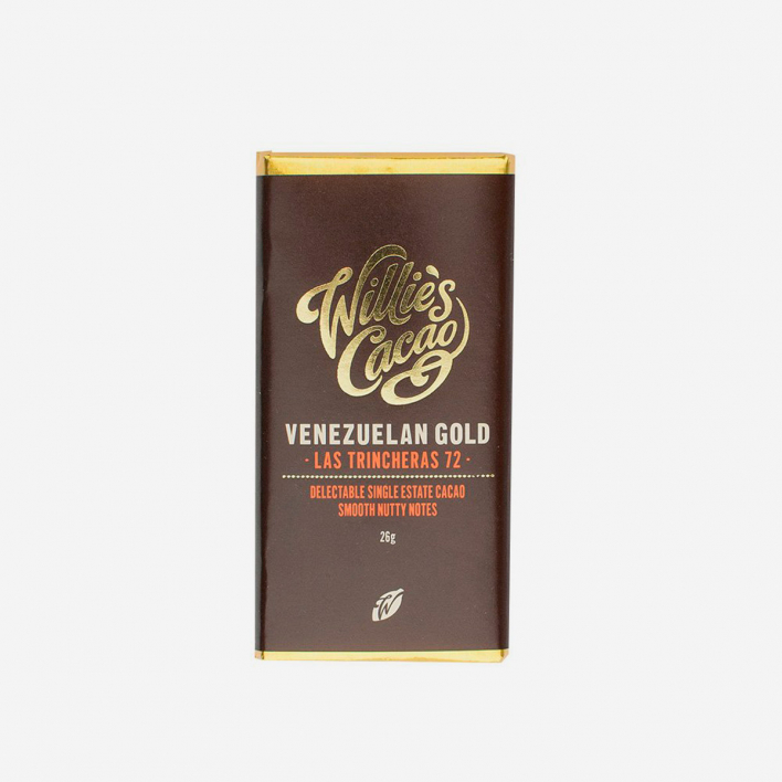 Willie's Cacao Las Trincheras Venezuelan Dark 72% Chocolate 26g