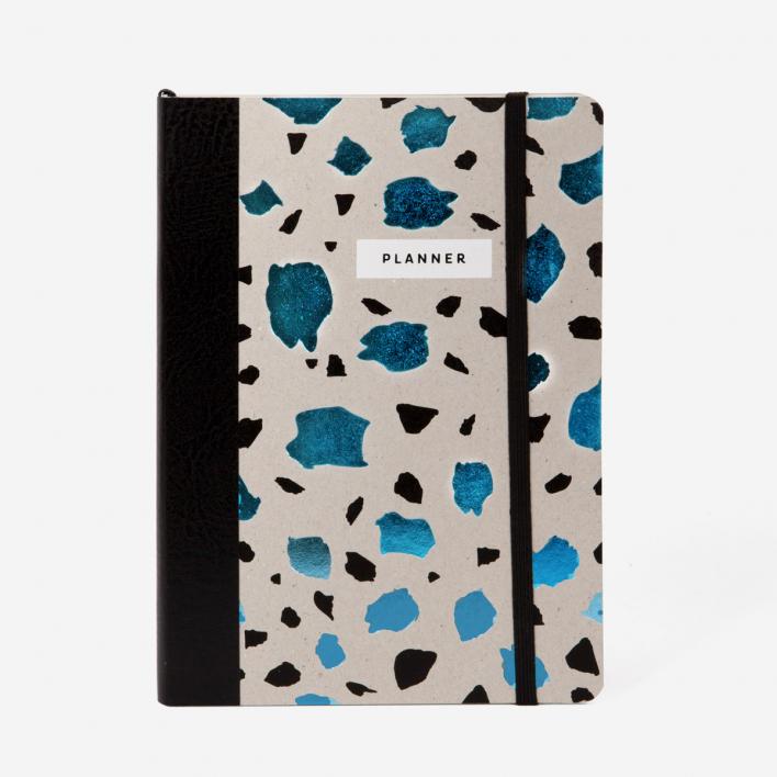 Magdalena Tekieli Lastrico Planner Book Metallic Blue