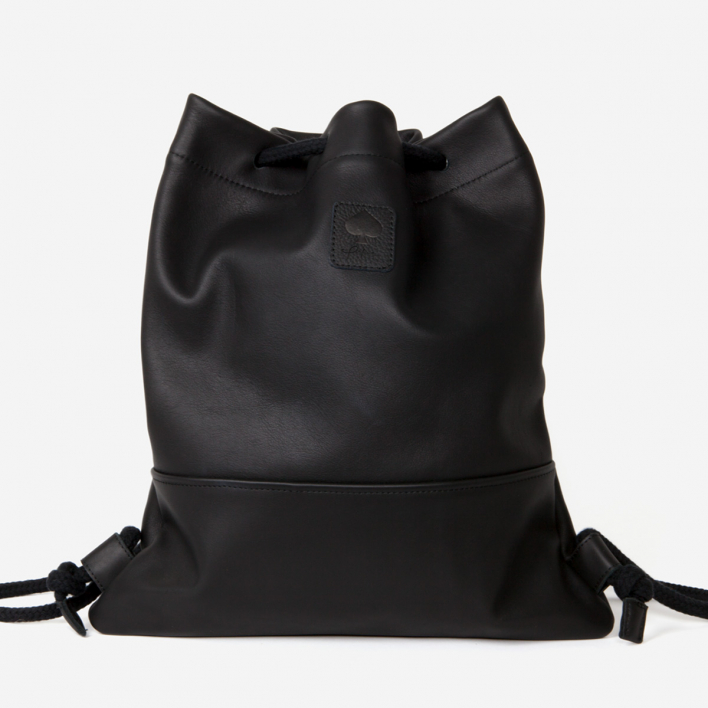 Pikfine Leather Backpack Lou - Black