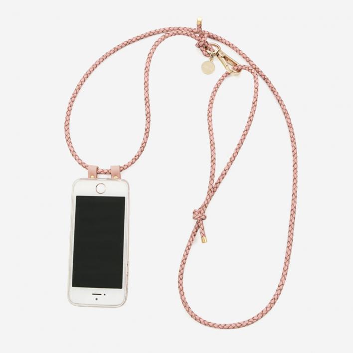 Lapàporter Leather Cord Phone Necklace Rosé - Gold