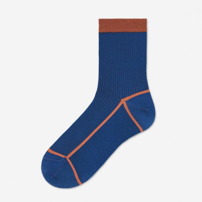 Hysteria by Happy Socks Lily Ankle Socks - Dark Blue