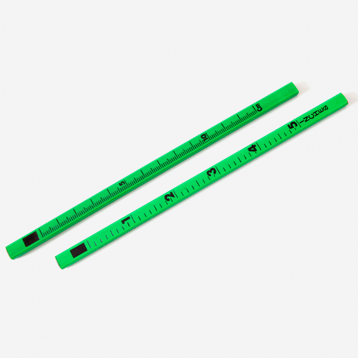Letterbox Ruler Pencil Fluo Green