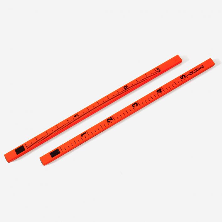 Letterbox Ruler Pencil Fluo Orange
