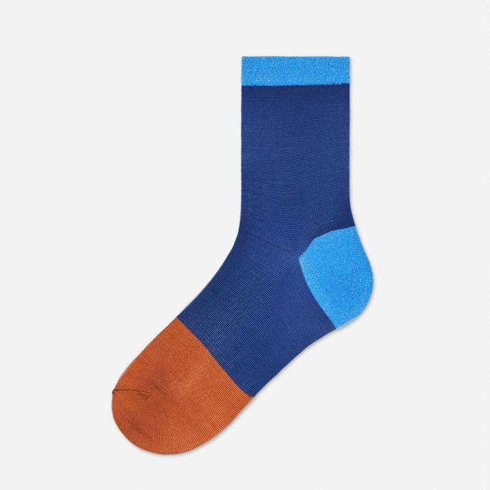 Hysteria by Happy Socks Liza Ankle Socks - Blue 39-41