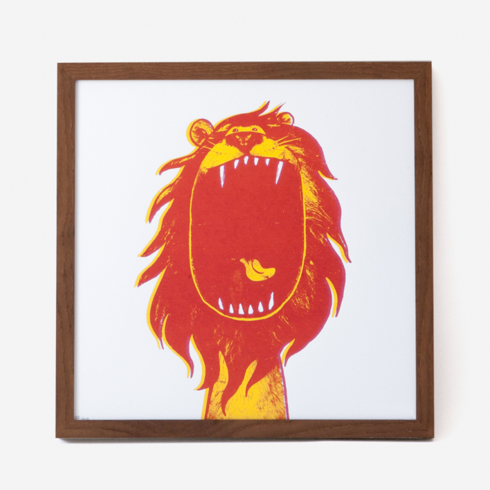 rikiki Lion Screenprint Poster