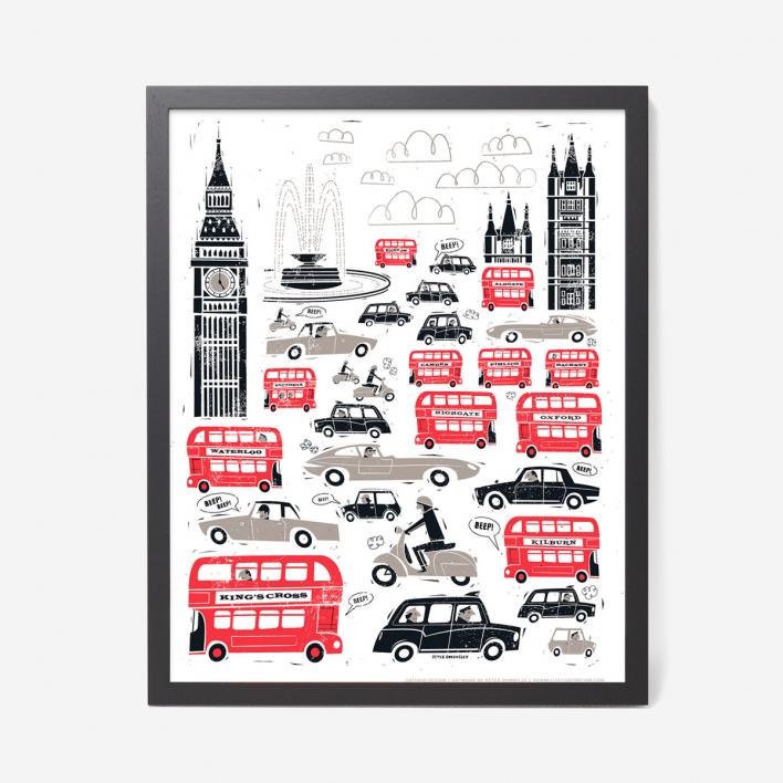 U Studio London Traffic Screenprint Poster