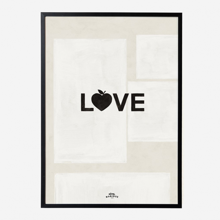 Hôtel Magique Love Art Print - A1 Anthracite frame Anthracite frame