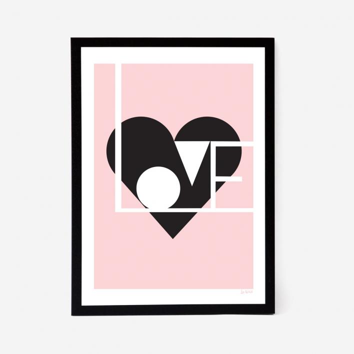 Lu West Love Artprint - Rose White Frame White Frame