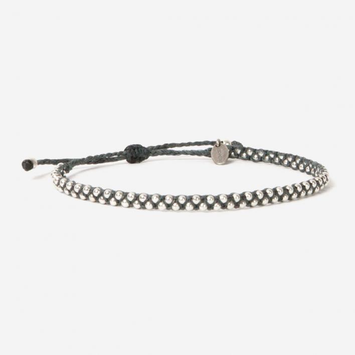 Geschmeidig Luna Micro Bracelet Anthrazite 925 Sterling Silver