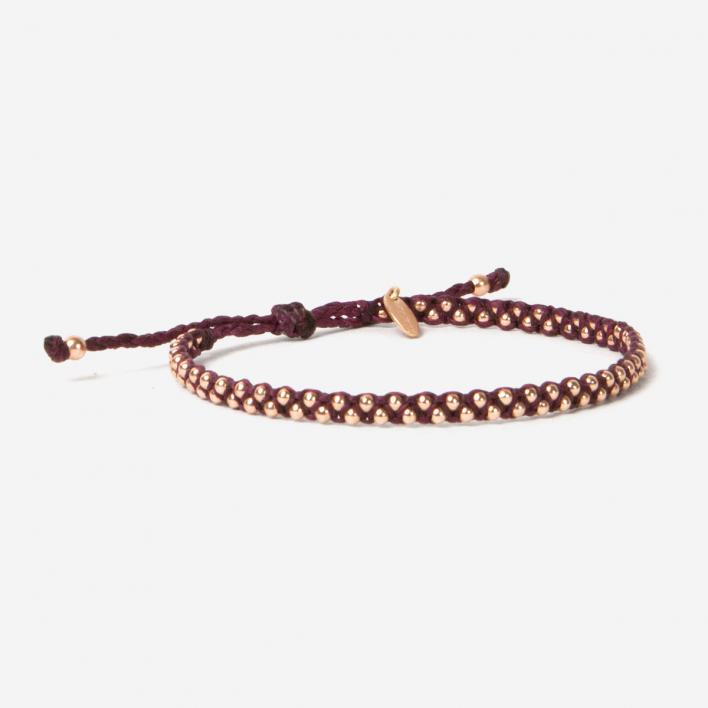 Geschmeidig Luna Micro Bracelet Purple Roségold
