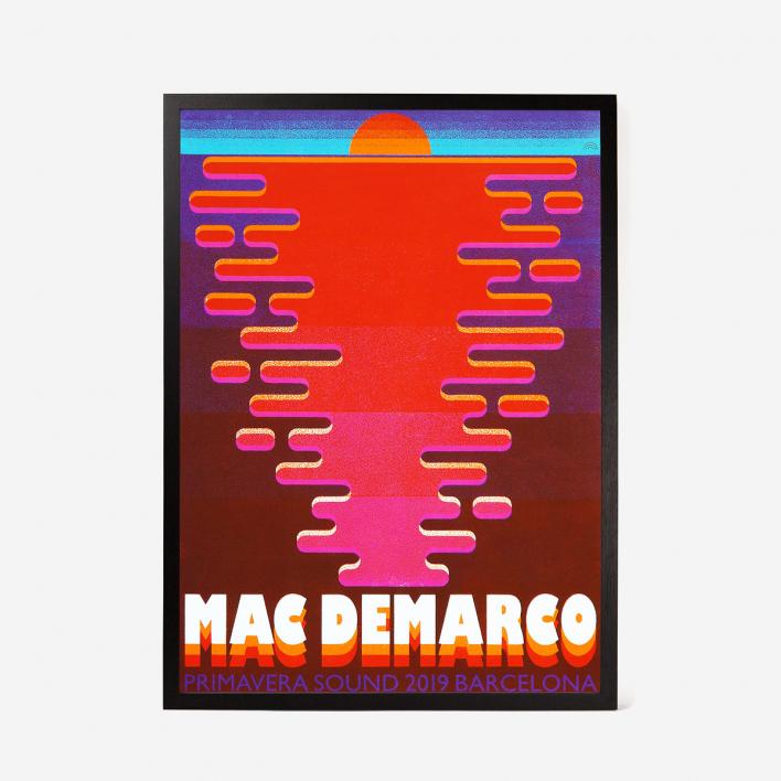 Rainbow Mac DeMarco Primavera Sound Siebdruck Gigposter