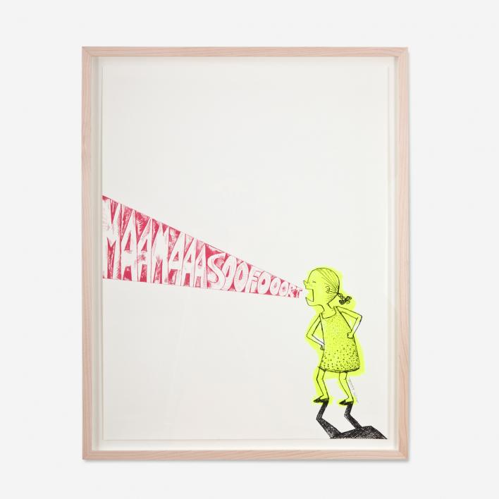 Tattii Mama Sofort! Neon Siebdruck Poster