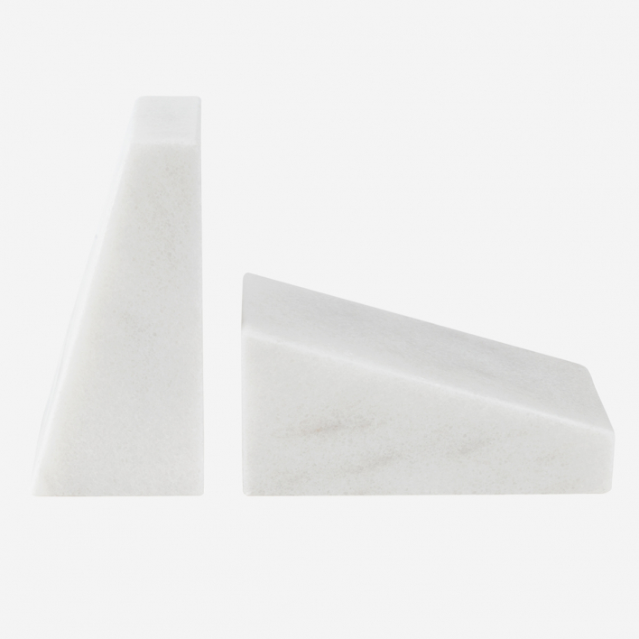 STONED Marble Book End White