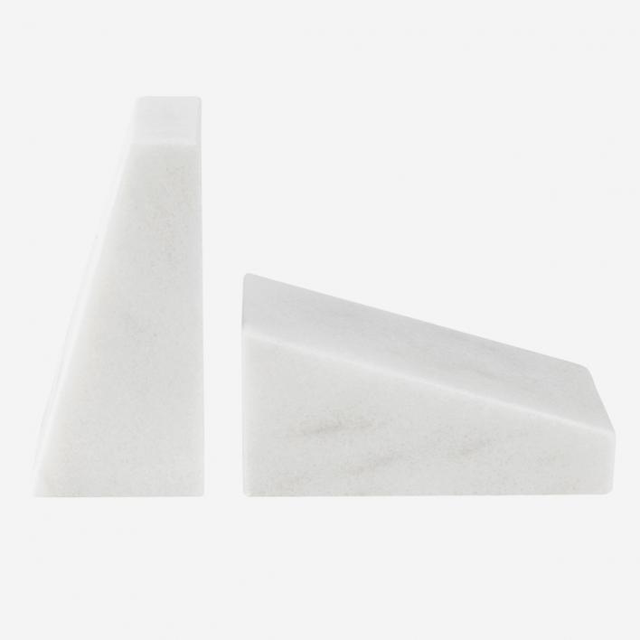 STONED Marmor Buchstütze White
