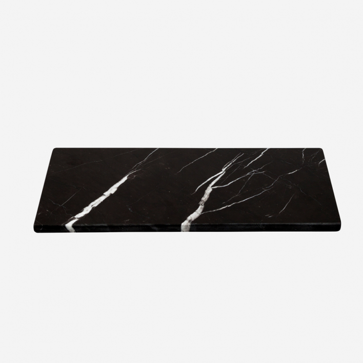 STONED Marble Rectangular Board Black S