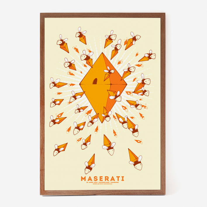 Zum Heimathafen Maserati HH Screenprint Poster