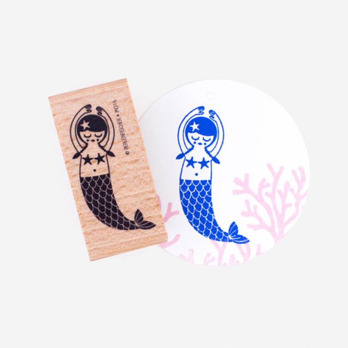 Perlenfischer Meerjungfrau Stempel