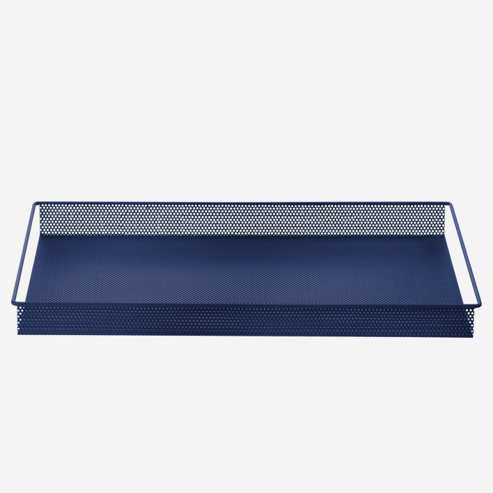 ferm LIVING Metal Tray Blue Large