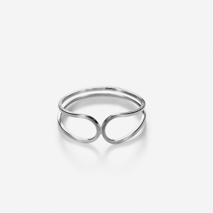 By Boe Mirror Image Ring Sterling Silver