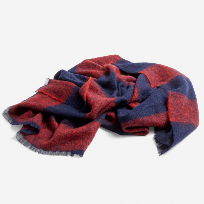HAY Mohair Blanket Red Decke