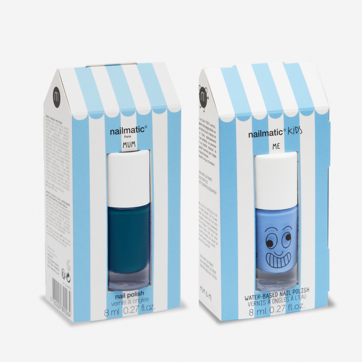 Nailmatic Kids Mum & Me Nail Polish Duo - Gaston + Navi