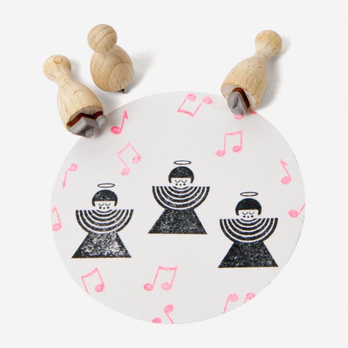 Perlenfischer Musiknoten Mini Stempel