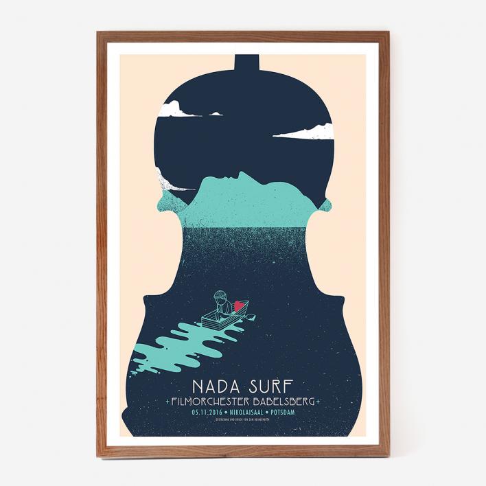 Zum Heimathafen Nada Surf Potsdam Siebdruck Rahmen Esche Dunkel