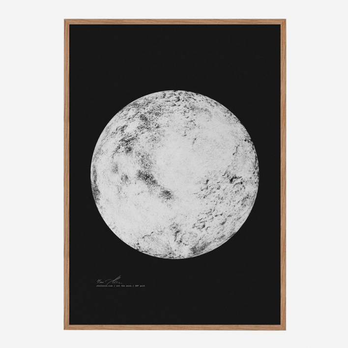 Stellavie Not the Moon Screenprint no frame no frame