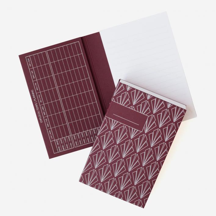 Atelier 225 Notepad No. 2 Dark Red
