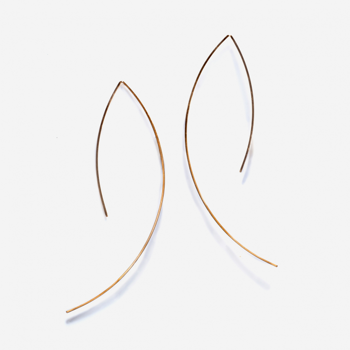 By Boe Open Angular Wire Earring GF