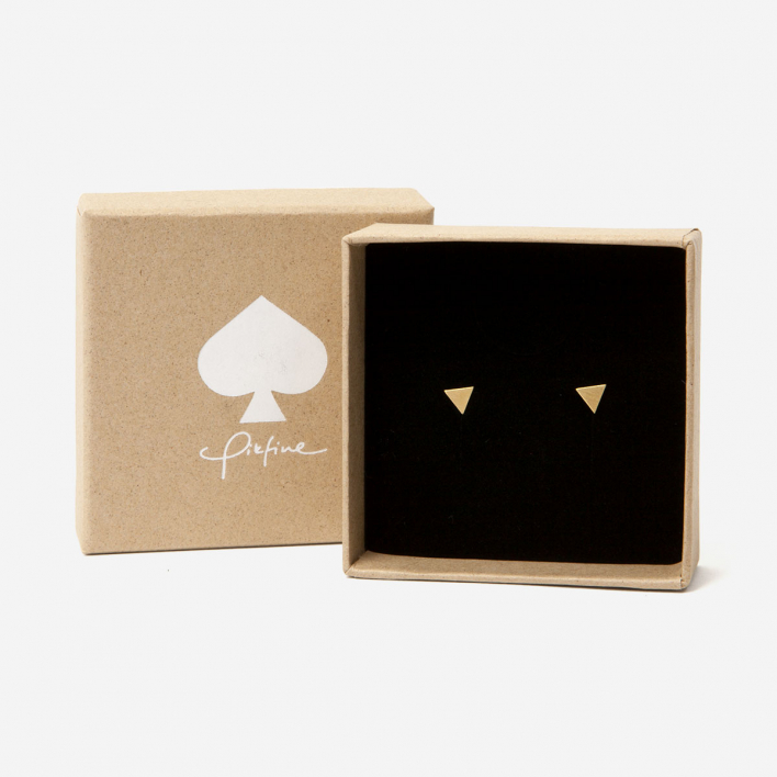 Pikfine Ear Studs Triangle gold filled