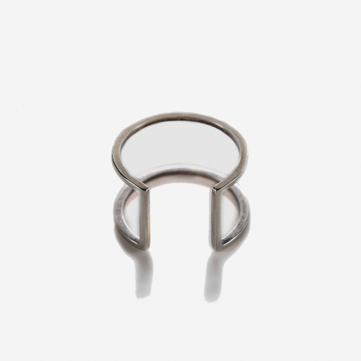 By Boe Open Square Ring Sterling Silver