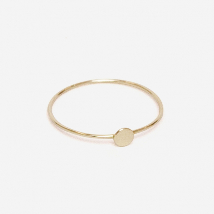 Saskia Diez Paillettes Ring - Gold 750 / 18 kt