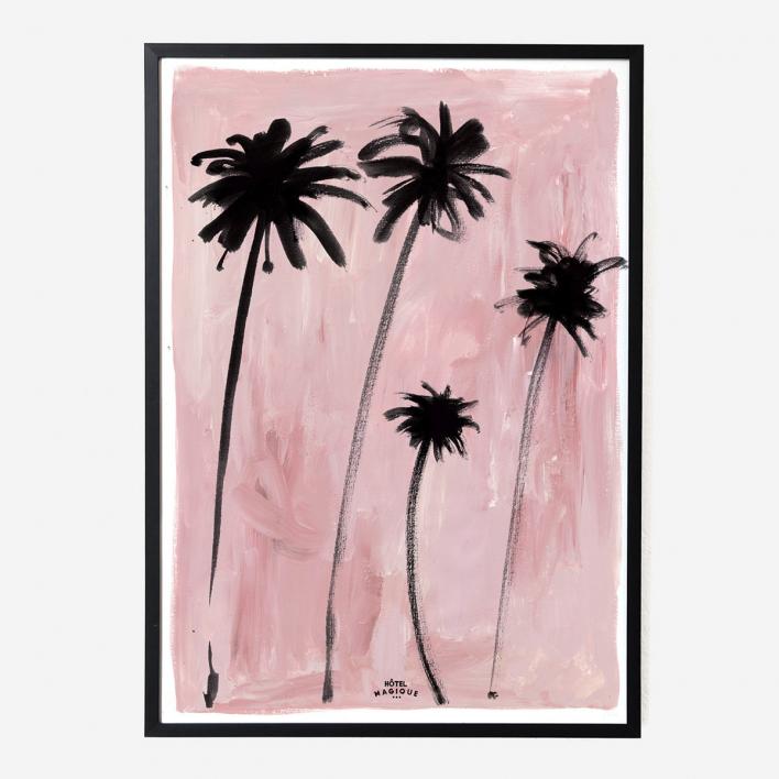 Hôtel Magique Palm Trees Art Print - A1