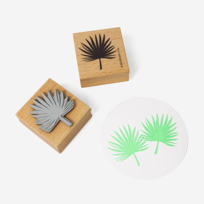 Perlenfischer Palmenblatt Stempel