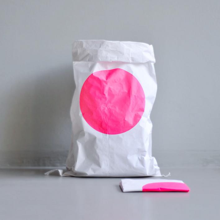 kolor Paper Bag - Dot Pink