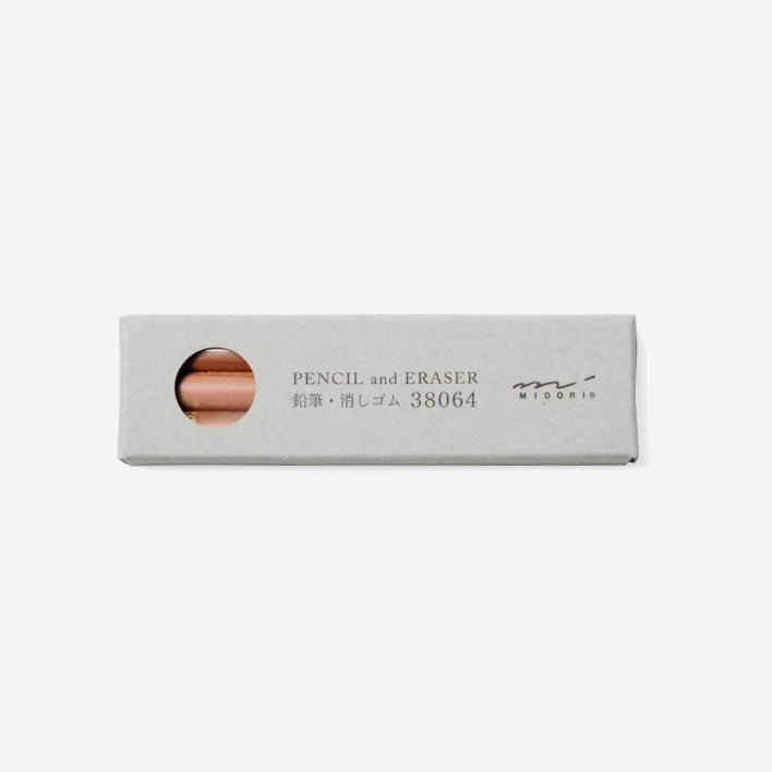 TRAVELER'S Company Pencil Refill (3 pencils, 2 erasers)