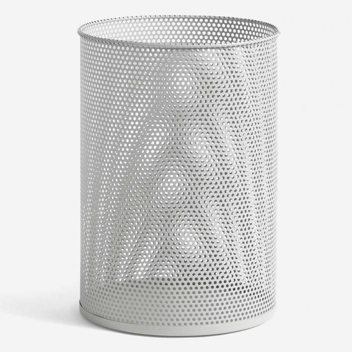 HAY Perforated Tin Bin L Light Grey