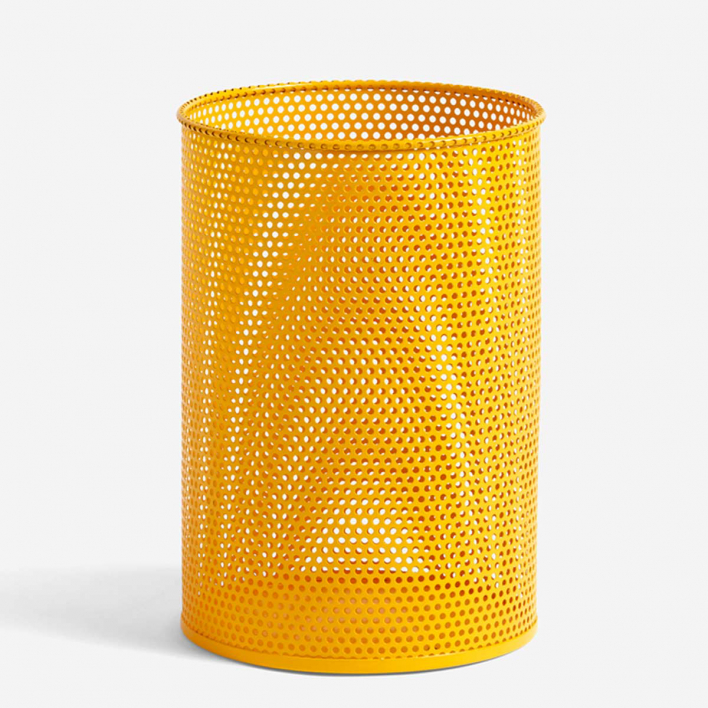 HAY Perforated Tin Bin M Yellow