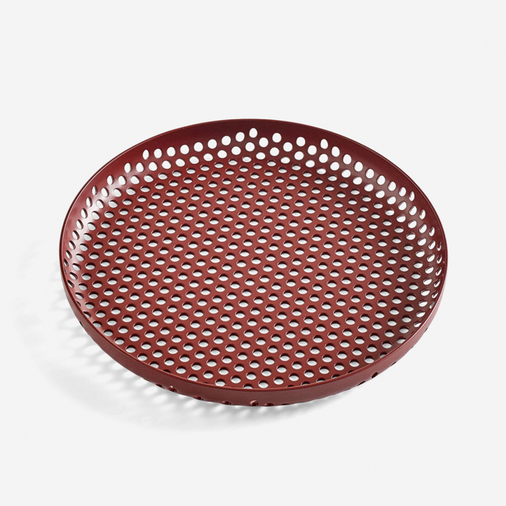 HAY Perforated Tray S - Bordeaux