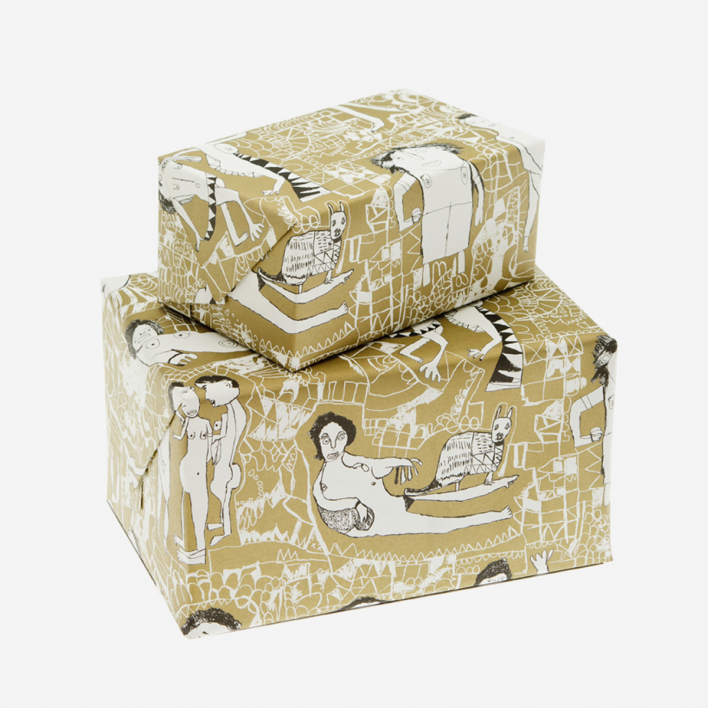 Arthouse Unlimited Peter's Naked Ladies Wrapping Paper