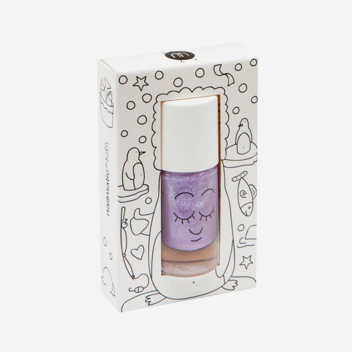 Nailmatic Kids Piglou - Lilac Glitter Waterbased Nagellack
