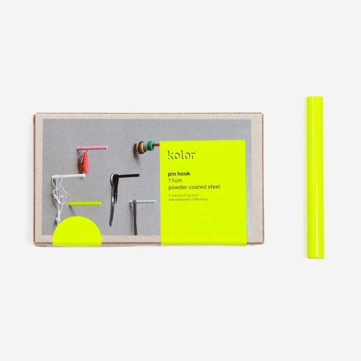 kolor Pin Hook Garderobenhaken - Neon Yellow