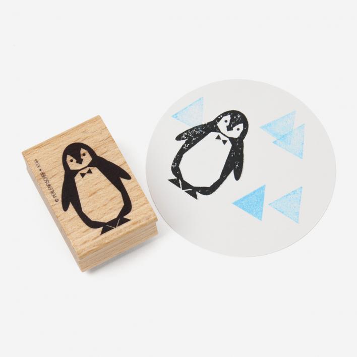 Perlenfischer Pinguin Stempel