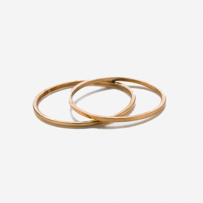 By Boe Plain Thin Band Ring vergoldet