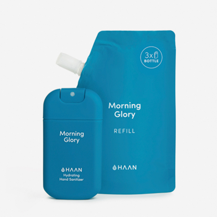 HAAN Pocket Hand Sanitizer + Refill - Morning Glory (30 + 100 ml)